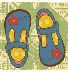 Little girls shoes vector