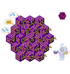 logical puzzle game with labyrinth for children vector image