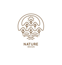 logo forest vector image