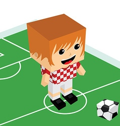 male cartoon soccer player vector image