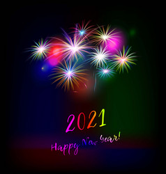new year greeting card 2021 vector image