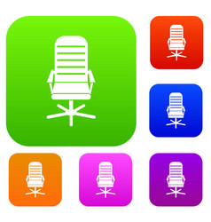 office chair set collection vector image