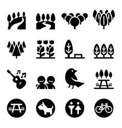 Park icon set vector