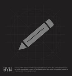 pencil icon - black creative background vector image