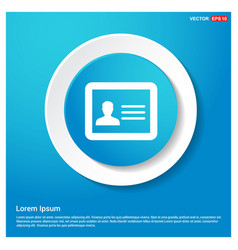 Personal id card icon vector