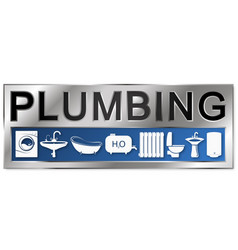 Plumbing symbol for business vector