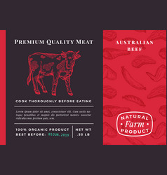 Premium quality meat abstract beef vector