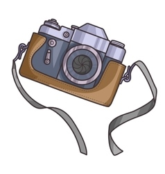 Retro or vintage camera vector