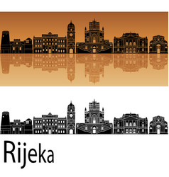 Rijeka skyline vector