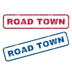 Road Town Rubber Stamps vector image