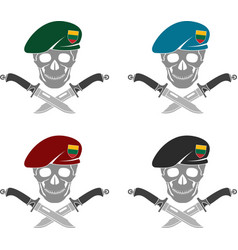 set sign special forces lithuania vector image