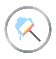 Squeegee cartoon icon for web and vector