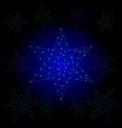 Star light polygon line vector