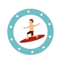 Surfing Extreme sport athlete avatar vector