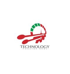 Technology icon templatecreative logo designspeed vector
