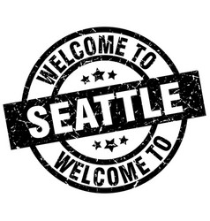 welcome to seattle black stamp vector image vector image