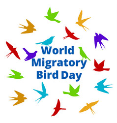 World migratory bird day vector