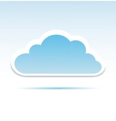 Cloud vector image