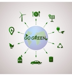 Green planet info graphic vector image vector image