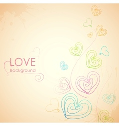 Sketchy Heart in Love Background vector image vector image