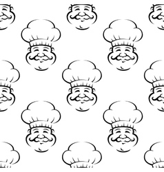 Smiling baker or chef seamless pattern vector image