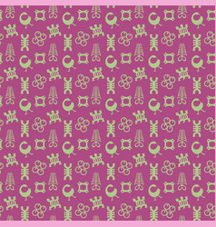 adinkra symbols pattern vector image