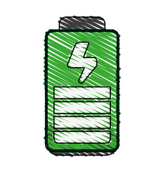 Fully loaded battery icon image vector