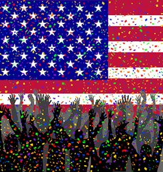 People celebrating USA day vector image vector image