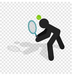 tennis returner isometric icon vector image