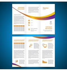brochure folder leaflet color yellow line vector image vector image