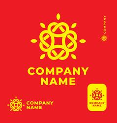modern ethno folk knot shine logo identity brand vector image
