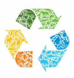 recycled logo vector image vector image
