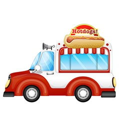 A vehicle selling hotdogs vector image vector image