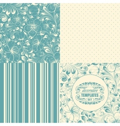 Beautiful seamless backgrounds set vector image