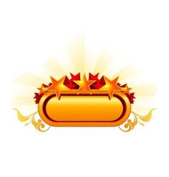 Emblem with the stars orange vector image