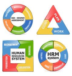 HRM Diagrams vector image vector image