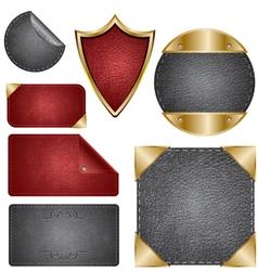 leather design elements vector image
