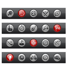 Sports Buttons vector image