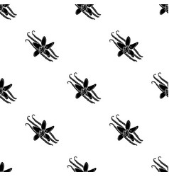 vanilla icon in black style isolated on white vector image