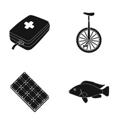 Water treat rest and other web icon in black vector