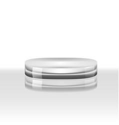 3d luxury glass podium cylinder glossy pedestal vector