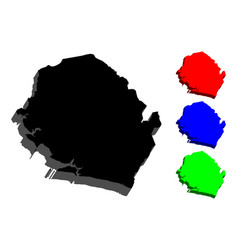 3d map of sierra leone vector image