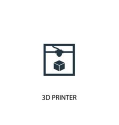 3d printer icon simple element vector