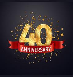40 years anniversary logo template on dark vector