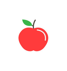 apple flat icon food and diet element healthy vector image