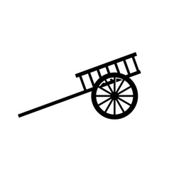 Arabian carriage icon vector