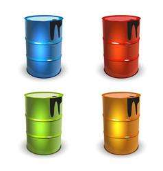 Barrel set color vector