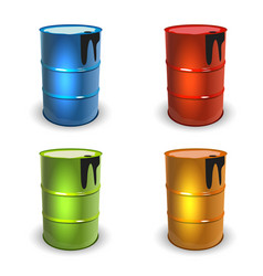 Barrel set colot vector