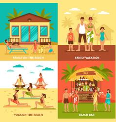 Beach holiday design concept vector
