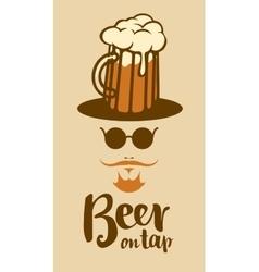 Beer glass man vector